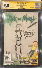 JUSTIN ROILAND ORIGINAL RICK AND MORTY Sketch CGC 9.8 Signed Mr. Poopybutthole