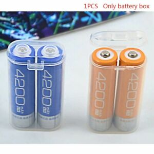 Plastic Battery Case Holder Storage Box For 2x 18650 Batteries