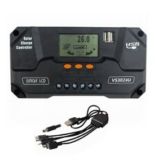 30A 12V 24VSolar Laderegler Solarpanel Controller Regulator Solarregler USB