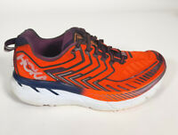 Hoka One One Clifton 4 Red Blue Running Shoes Women's size 6.5 B