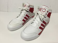 Adidas Neo Label High Tops Red White G66473 Sz 10