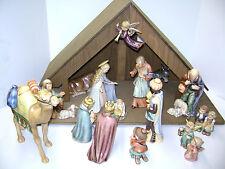 "Hummel 17 piece Christmas Nativity Set #214 plus ""A"" Frame Manger - Crèche"