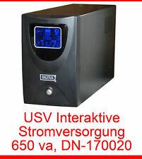 650va Interactive Ups USV Power Supply Digitus Dn-170020 Rs 232 LCD Monitor