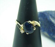 Saphir Brillant Ring 585 Gold 14 Karat Steinring Diamantenring Gr 55