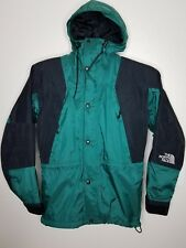 Vintage The North Face Gore- Tex Mountain Jacket Mens Green Hooded Small