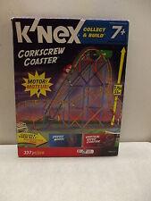 New K'Nex Corkscrew Coaster 12434 Motor 337 Pieces 7+