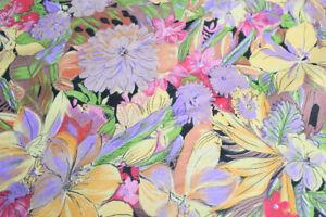 Stoff bunt mit Blumen ca 160 cm breit Meterware