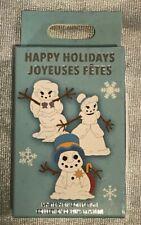 Disney Parks Happy Holidays Snowman Characters Mystery Set Pin 00006000  Box - New Sealed!
