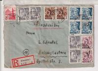 Franz.Zone/Baden, Mi. 3/4er, u.a., R-Konstanz 31.12.47
