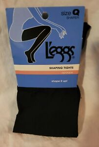 L'eggs Black Shaping Tights Women's Size Large (Q)