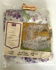 """Vintage Sears Canopy for Full Size Canopy Bed """"Violets"""" Perma Prest NOS"""