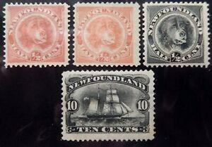 Newfoundland Scott # 056-59, Set of 4, Mint Original Gum (HR)