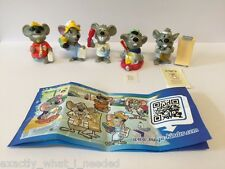 Kinder Surprise Mouse Doctors Limited Edition Complete Set Of 5 CHINA 2014 RARE