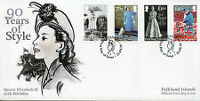 Falkland Islands 2016 FDC Queen Elizabeth II 90th Birthday 4v Set Cover Stamps