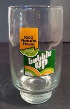 Vintage Bubble-Up Lemon Lime Soda Advertising Glass - Tumbler Advertising