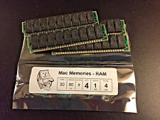 4x 1MB 80ns 30-Pin 9-chip (Parity) FPM Memory SIMMs Apple Macintosh SE Plus RAM
