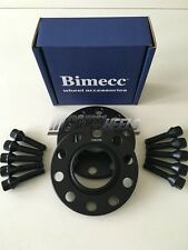 2 x 20mm Hubcentric Black Alloy Wheel Spacers Black Bolts BMW E39 M5