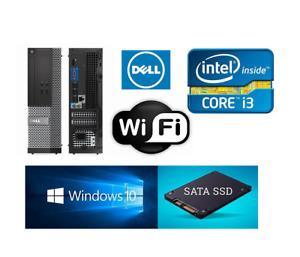 DELL SFF PC Intel Corei3-3220@3.30GHz 4GB RAM 240GB SSD Win10 WIFI+ HDMI Desktop