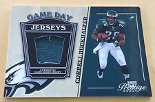 2004 Donruss/Playoff Football Correll Buckhalter Game-Used Jersey Patch Card
