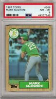 1987 Topps #366 Mark McGwire PSA 8 (849) NM-MINT