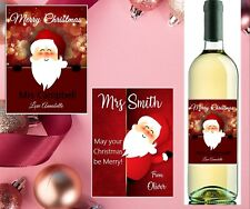 Personalised Teacher Christmas Wine Bottle Label