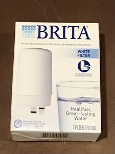 Brita Filtration System White Faucet Water Filter FR-200 Replacement—NIB