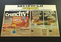 VTG 1982 Nature Valley Light & Crunchy Granola Snack Peanut Butter Print Coupon