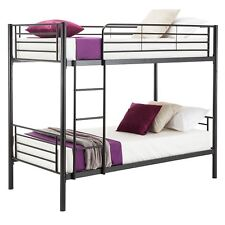 Black Metal Bunk Bed Frame 2*3FT Single Kids Children Twins Sleeper No Mattress