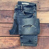 Anthropologie Pilcro Letterpress Slim Boyfriend Crop Jeans Distressed Wash 29
