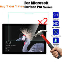 2PCS Tempered Glass Screen Protector For Microsoft Surface Pro 1/2/3/4/5/6/7 Go
