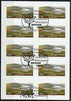 Bund 10 x 2863 Folienblatt FB 17 gestempelt BRD Selbstklebende ESST Bonn used