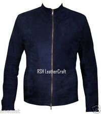 Spectre James Bond Daniel Craig Blue Suede Leather Racer Jacket (All Sizes)