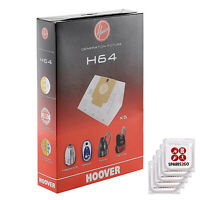 HOOVER H64 5 x Dust Bags Vacuum Cleaner Freespace Sprint Flash Cylinders Fresh
