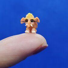 Ooak Miniature Micro Elephant Handmade Dollhouse Animal Baby tiny African
