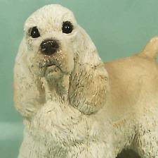 Stone Critters English Cocker Spaniel Dog Figurine Bone Yellow Udc New Nos