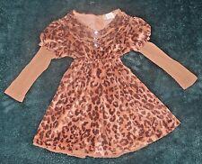EUC The Big Citizen Leopard Rhinestone Dress Size 2T