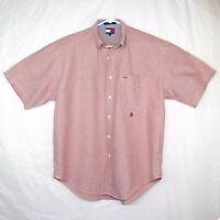 Tommy Hilfiger Pale Plum Oxford Shirt Mens Large Button Down Collar Cotton