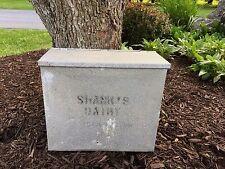 Vintage Shanks Dairy Farm Hagerstown MD Maryland Milk Bottle Porch Box Cooler