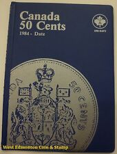 CANADIAN 50-CENT UNI-SAFE BLUE COIN FOLDER PROTECTOR - 4 PAGES 1984-DATE