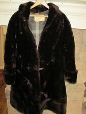 vintage womens GENUINE SHEARED BEAVER FUR jacket coat classy evening M L