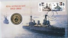 2011 $1 UNC Royal Aust Navy Stamp & Coin Cover PNC