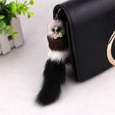 20*5cm Faux Fox Fur Keychain Long Tail Keyring Bag Handbag Pompon Pendant Charm