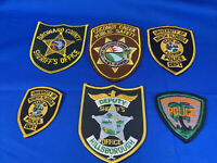 Various State Patches #20 Lot Of 6 Various Departments From United States