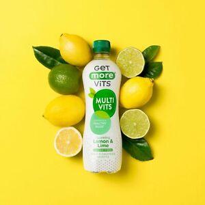 Multi Vitamin Drink Lemon & Lime 12x500ml by Get More Vits