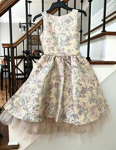Rare Editions Girls Gold Dress Size 10 NWT