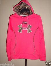 New Under Armour Women's Storm Caliber Pink Perfection Camo Hoodie Sweatshirt S