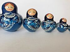 Nesting Dolls Set Of 9 Handmade Russian Excellent Condition Fast Free Shipping