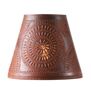 Irvins Country Tinware 14-Inch Fireside Shade with Chisel in Rustic Tin