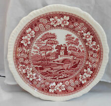 "SPODE TOWER PINK DINNER PLATE 10 5/8"" OLDER MARK COPELAND ENGLAND"