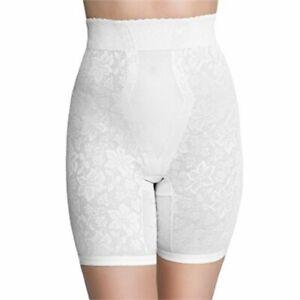 QT INTIMATES Lace Jacquard Control Long Leg WHITE GIRDLE 298X size 6 X